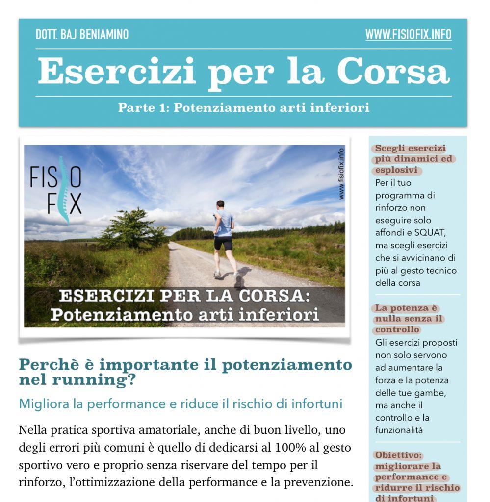 esercizi per la corsa fisio fix fisioterapia monza cesano maderno seregno